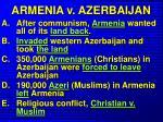 armenia v azerbaijan