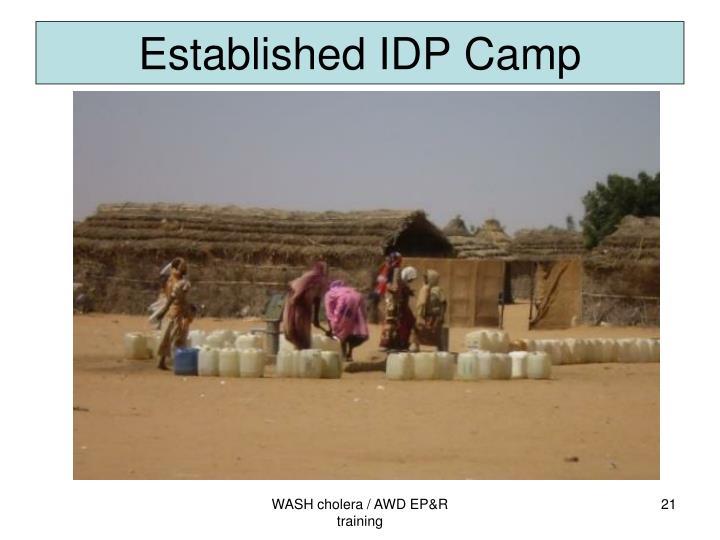 Established IDP Camp