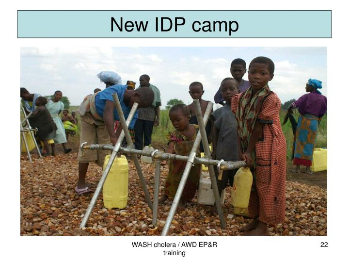New IDP camp