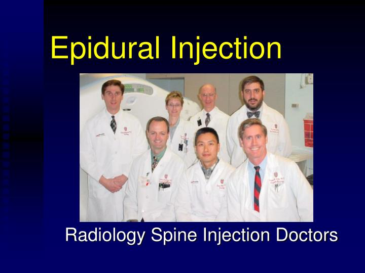 epidural injection n.