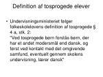 definition af tosprogede elever