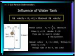 influence of water tank