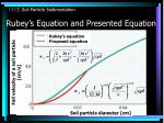 rubey s equation and presented equation