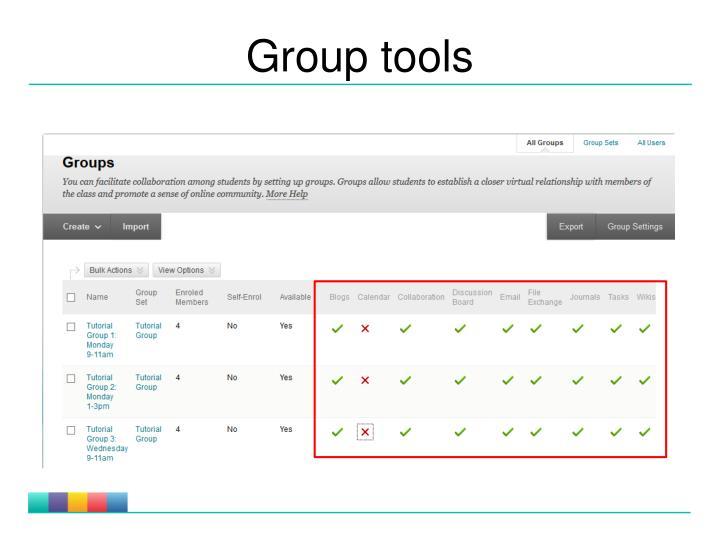 Group tools