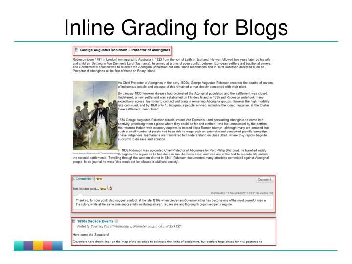 Inline Grading for Blogs