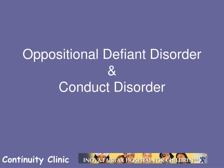 oppostional defiant disorder To determine whether your child has oppositional defiant disorder, the mental health professional will likely do a comprehensive psychological evaluation because odd often occurs along with other behavioral or mental health problems, symptoms of odd may be difficult to distinguish from those.