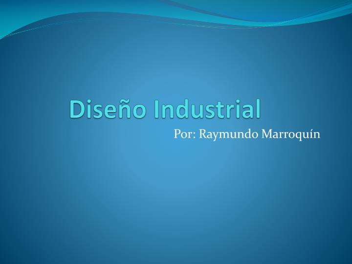 dise o industrial n.