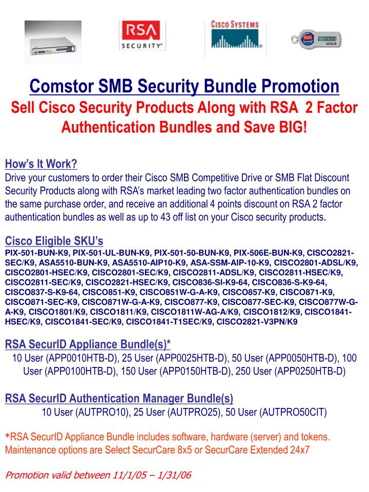 PPT - Comstor SMB Security Bundle Promotion PowerPoint