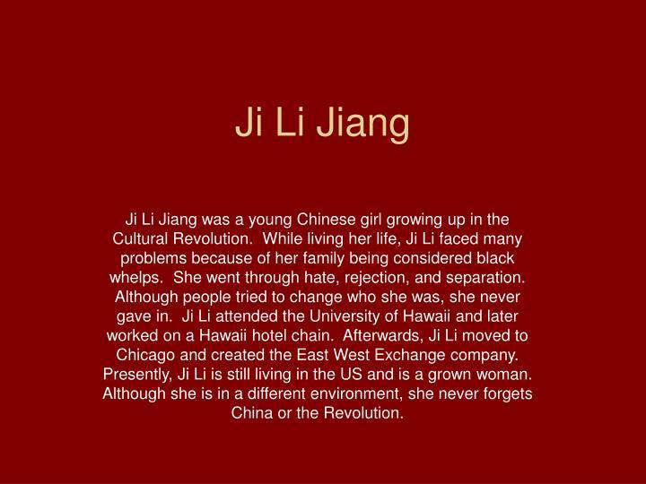 ji li jiang Books by ji-li jiang red scarf girl: a memoir of the cultural revolution by ji-li jiang format: hardcover publisher: harpercollins publishers.