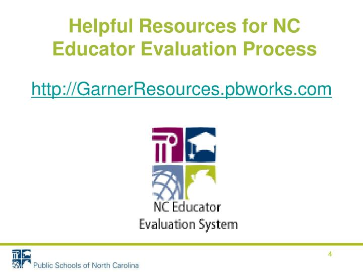 Helpful Resources for NC Educator Evaluation Process