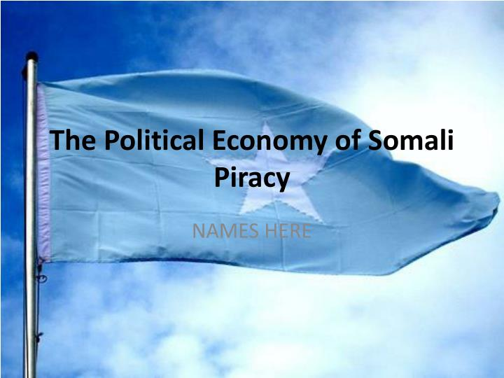 the political economy of somali piracy n.
