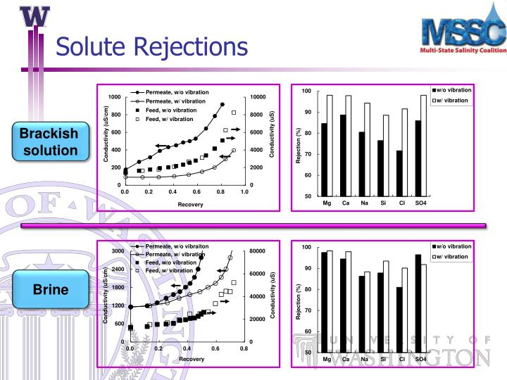 Solute Rejections