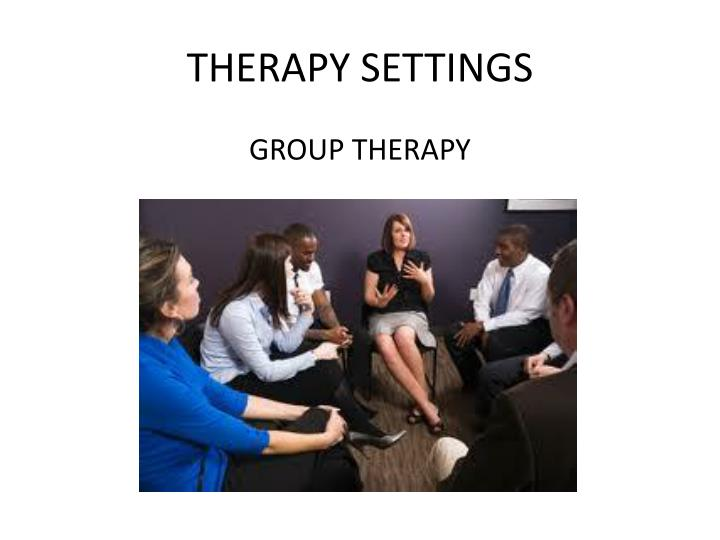 THERAPY SETTINGS