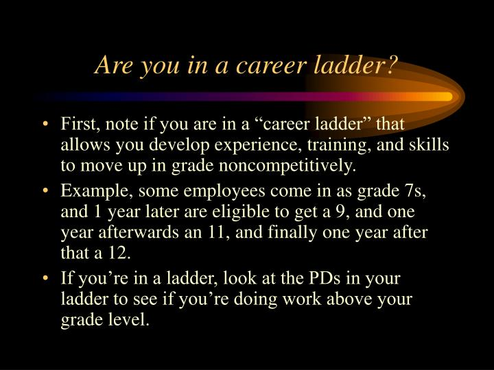 Are you in a career ladder