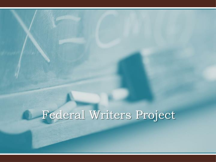 federal writers project n.