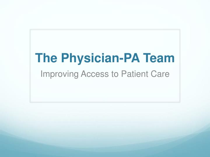 the physician pa team n.