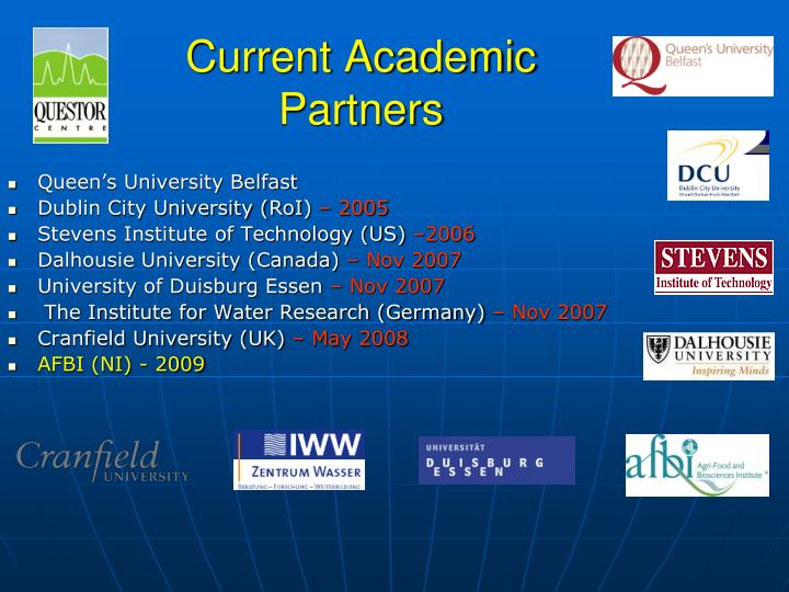 current academic partners n.