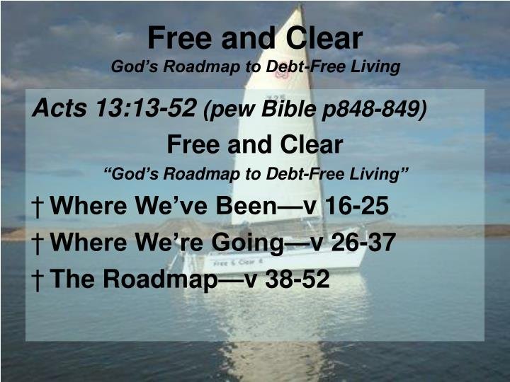 Free and clear god s roadmap to debt free living2