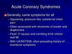 acute coronary syndromes2