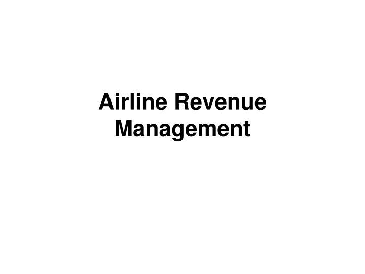 airline revenue management n.
