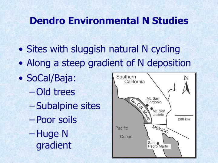 Dendro Environmental N Studies