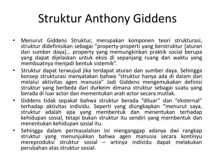 Struktur Anthony Giddens