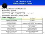 omb circular a 76 new format terms
