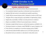 omb circular a 76 policy summarized