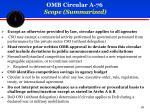 omb circular a 76 scope summarized
