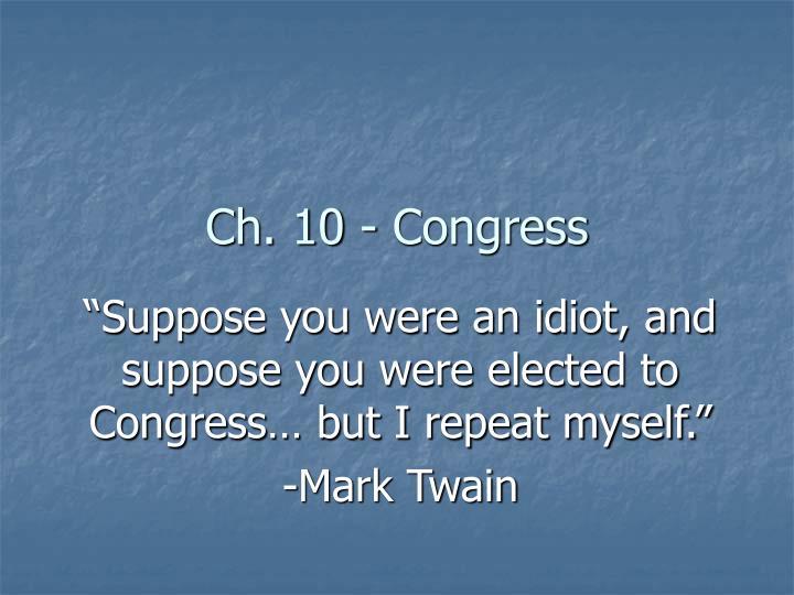 ch 10 congress n.