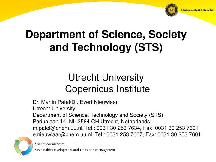 Ppt department of science society and technology sts utrecht department of science society and technology stsutrecht university copernicus institute toneelgroepblik Gallery