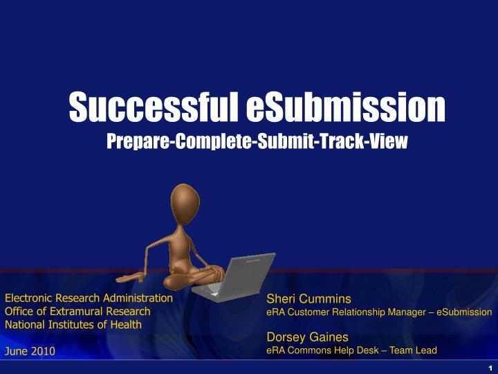 Successful Esubmission Prepare Complete Submit Track View N.