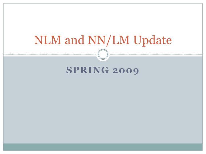 nlm and nn lm update n.