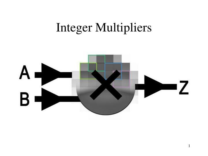 integer multipliers n.