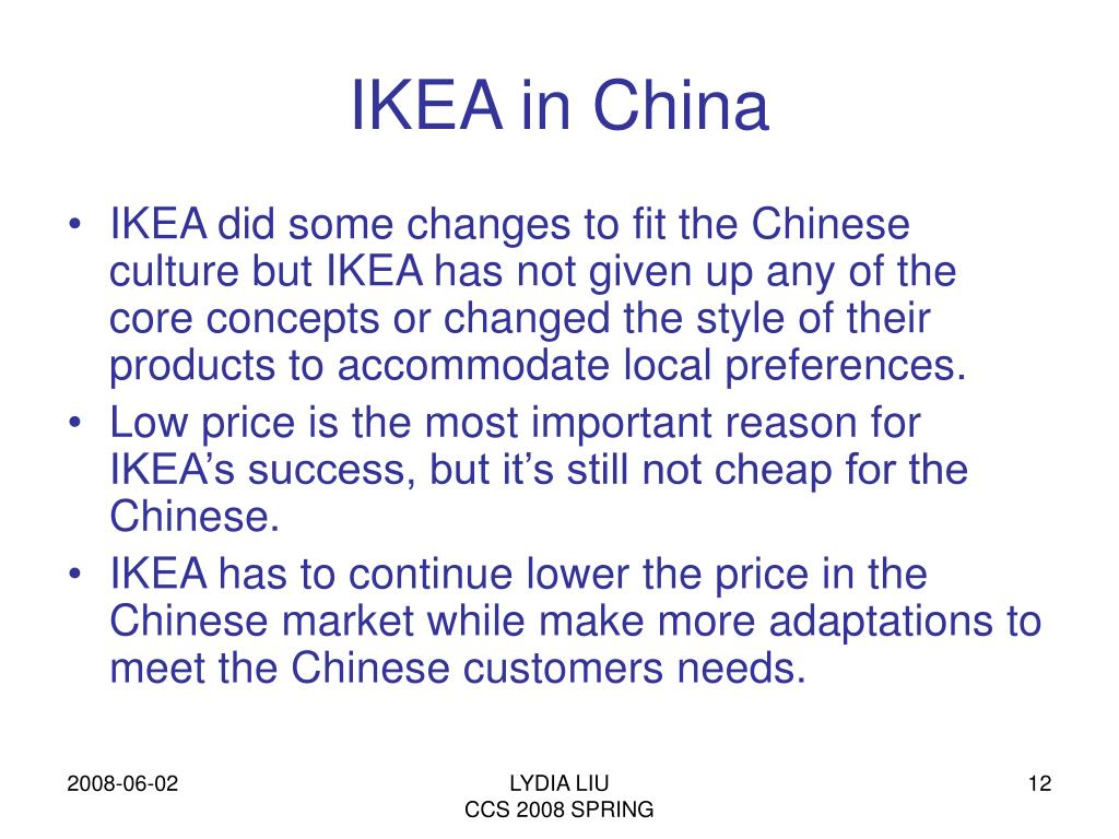 PPT - IKEA in China: Cheap for Chinese? PowerPoint Presentation - ID