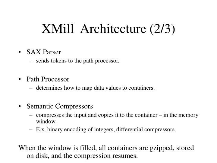 XMill  Architecture (2/3)