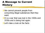 a message to current history