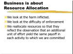 business is about resource allocation1