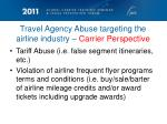 travel agency abuse targeting the airline industry carrier perspective