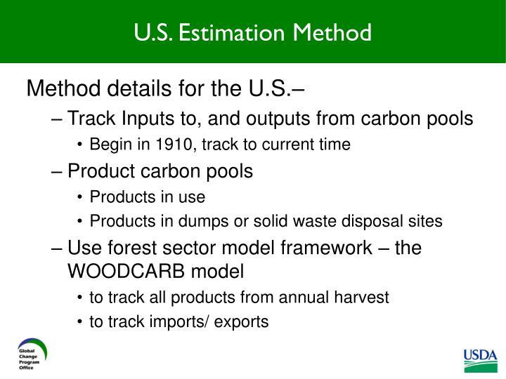 U.S. Estimation Method
