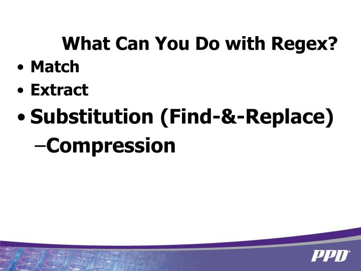 What Can You Do with Regex?