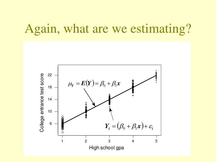 Again, what are we estimating?