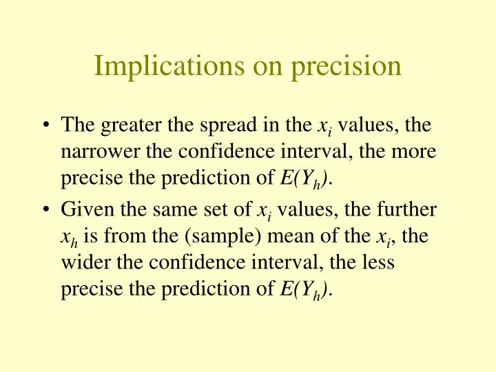 Implications on precision