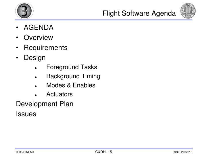 Flight Software Agenda