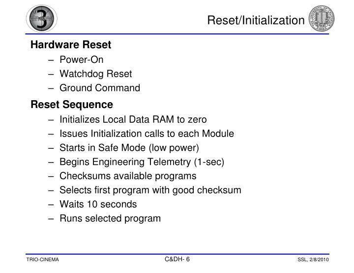 Reset/Initialization