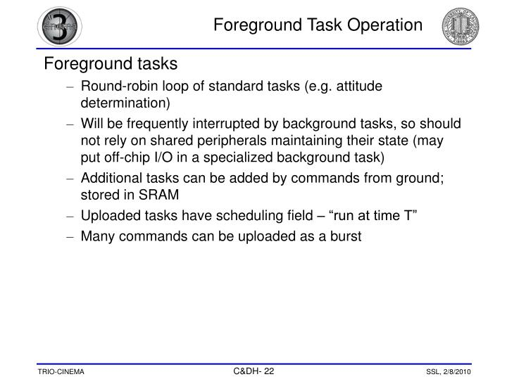 Foreground Task Operation