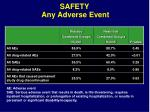 safety any adverse event