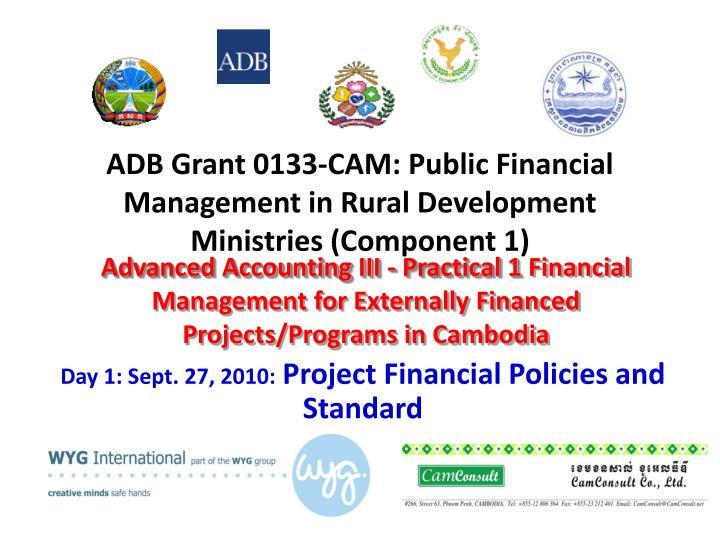 adb grant 0133 cam public financial management in rural development ministries component 1 n.