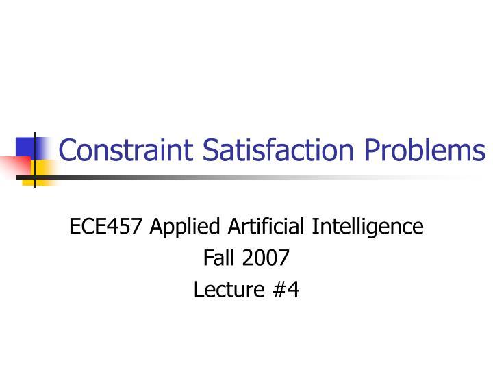 constraint satisfaction problems n.
