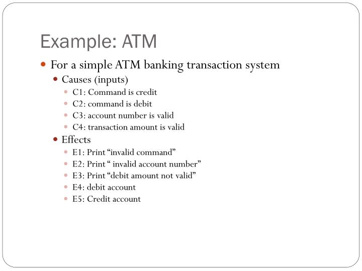 Example: ATM